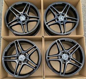 18 Mercedes Benz C class Amg Factory Oem Wheels Rims Staggered 85221 85222
