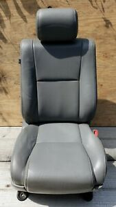 2007 2012 Toyota Tundra Front Right Passenger Seat Gray Leather Headrest Oem