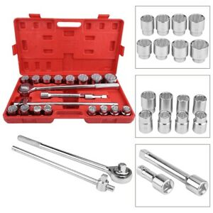 21pcs 3 4 Standard Drive Socket Wrench Spanner Set Car Truck Repair Tools Kit