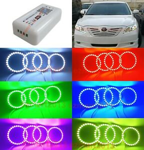 Wifi Rgb Led Halo Rings For Toyota Camry Xv40 07 09 Car Headlight Led Angel Eyes