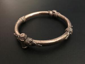 Old Indian Sterling Silver Bangle Extremely Rare Collectible