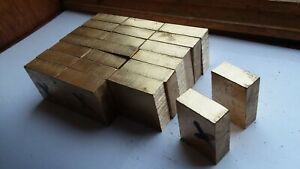 954 Aluminum Bronze Flat Blocks Lot Of 22 Pcs 5 x1 375 x1 5 Machined