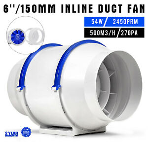 6 Inch Inline Duct Fan Exhaust Fan With Variable Speed Controlle Air Blower