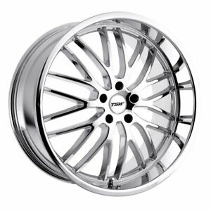 1 New 19x8 Et 35 Tsw Snetterton Chrome Wheel 5x100