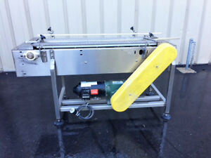 Nercon Modular 15 Wide X 54 Long Stainless Steel Conveyor With Mattop Belt