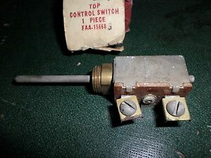 1953 1954 Ford Mercury Nos Convertible Top Control Switch