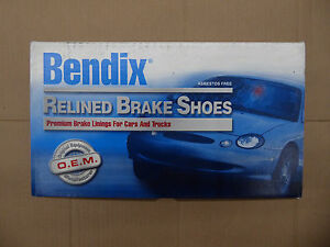 Brand New Bendix Relined Rear Brake Shoes R610 Fits Vehicles On Chart