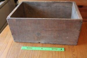 Wooden Crate Vintage Shipping Wine Bottle Box Hand Made Decorative Wood Storage