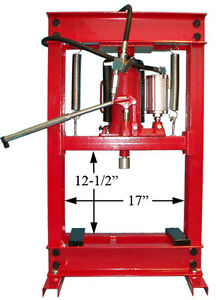 Combo 20 Ton Air Hydraulic Oil Filter Can Crusher Shop Press