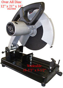 2 5hp 14 Cut Off Miter Metal Saw Chop Metal Abrasive 3500rpm free Shipping