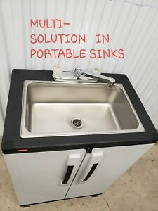 Freestanding Utility Sink Laundry Cabinet With Faucet Self Contained