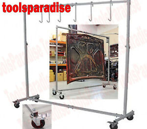 Auto Body Shop Painting Rack Hook Hanger Stand Panel Hood Door Holder Frame