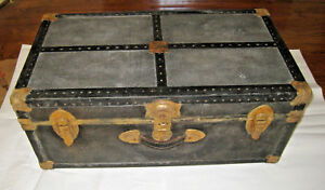 Vintage Steamer Travel Luggage Trunk Treasure Chest Decorative Storage 13 16 30