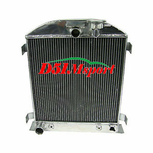 4 Row Aluminum Radiator Fit 1932 Ford Hi Boy Hot Rod Grill Shells Ford V8 Engine