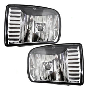 00 02 Lincoln Ls Set Of Fog Lights Rectangular Lens