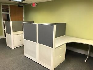 Lot Of 5 6 X 8 X 54 h Cubicles Partitions By Steelcase Office Furniture