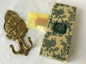 Brass Vintage Victorian Ornate Floral Wall Coat Hook Bombay Co New In Box