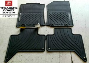 New Oem Toyota Tacoma 2012 2014 Double Cab All Weather Floor Mats