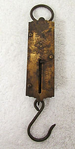 Antique Spring Scales 0 25lbs Hanging Pocket Scale 3 Landers Frary Clark Rb29