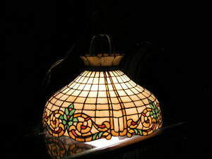 Antique Stained Glass Hanging Shade