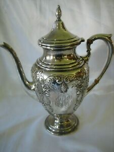 Estate Vintage Adventure Hand Chased Ornate Solid Sterling Silver Teapot