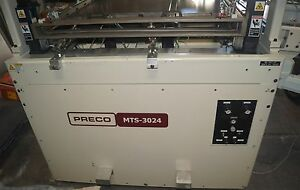 Preco Model Mts 3024 Automatic Roll To Roll Large Area Web Screen Printer