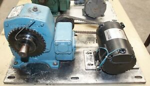 Minarik 1 4 Hp 90v Dc Variable Speed Electric Motor 1750 Rpm Max 870 1 Gearbox