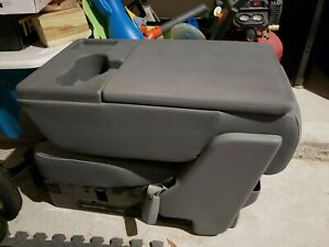 2009 2010 2011 2012 2013 2014 Ford F150 Jump Seat Center Console Cloth Grey