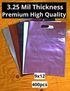 Plastic Merchandise Bags Gift 3 5 Mil Die Cut Handle No Gusset 100 Recyclable