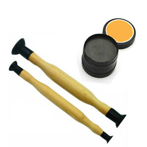 Valve Lapping Sticks Wooden Grip With Suction Cup Grinding Sand Valves Grinding