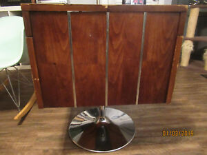 Lane Furniture Mid Century Modern Swivel Bar Cart