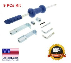 9pc 5lb Dent Puller Slide Hammer Auto Body Repair Dent Tool Kit Auto Truck