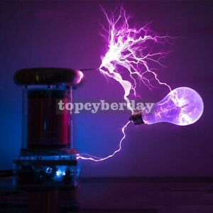 0 2m Musical Tesla Coil Lightning Storm Music Fans Electronic Toy 200w