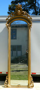Fantastic Victorian Pier Mirror With Shakespeare Head 111 Inches Tall