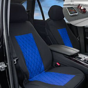 Front Bucket Seat Covers Neosupreme Auto Car Suv Blue Black W Free Gift