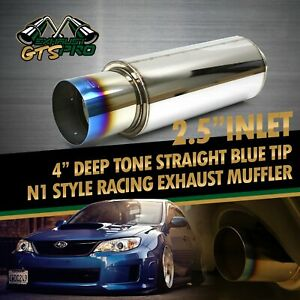 Street Performance 1x Usa Na N1 Style Throaty Sport Exhaust Muffler burnt Tip