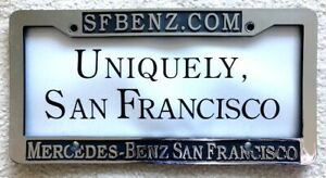 Rare Mercedes Benz Of San Francisco License Plate Frame Sfbenz Toll Red Light