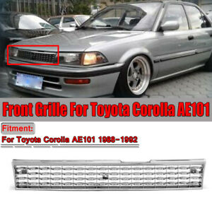 For 1988 1992 Toyota Corolla Ae101 Chrome Crown Billet Style Front Grille Grill