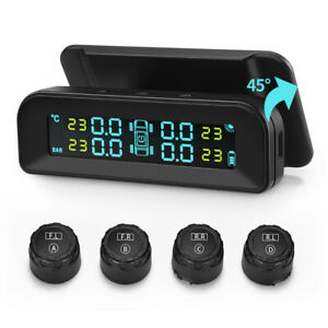 Universal Car Wireless Tpms Tire Tyre Pressure Monitor System 4 External Sensor
