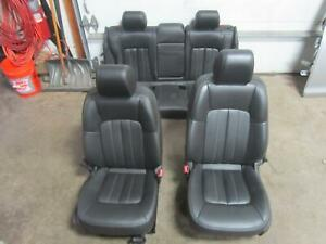 14 Buick Verano Front Seat Rear Left Right Driver Passenger Black Seats Leather