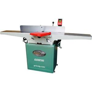 Grizzly G0856 8 X 72 Jointer With Helical Cutterhead Mobile Base