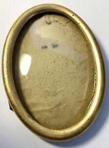 Antique 4 Oval Gold Wood Frame With Convex Domed Glass Gb1