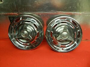 2 Used 64 Pontiac Gto Lemans Tempest 14 Spinner Wheelcovers
