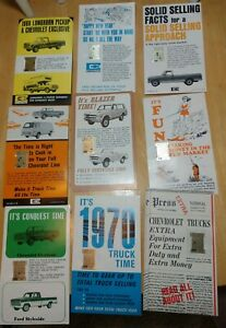 Vintage Chevrolet Wrist Watch Band Calendars Chevy Truck 68 69 70 Set Of 9 Gm