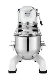 Eurodib White 20 Qt commercial Planetary Mixer With Attachments