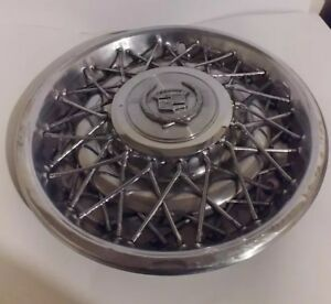 1976 1979 Cadillac Seville Factory Chrome Wire Hubcap 16725 253786 Used