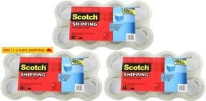 Scotch 3850 8 Heavy Duty Shipping Packaging Tape 1 88 Inches X 54 6 Yards