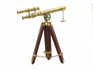 Brass Telescope With Tripod Stand Antique Desk Top Telescope For Home Decor