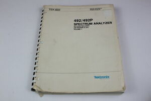 Tektronix 070 3783 01 492 492p Spectrum Analyzer Service Manual Volume 1