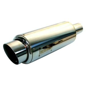 Tanabe Tun301 Stainless Steel Round Silver Exhaust Muffler 4 72 Id 3 54 Od